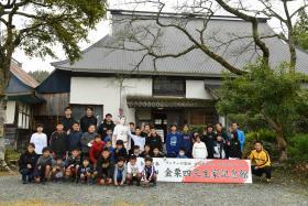 金栗四三生家記念館で記念撮影