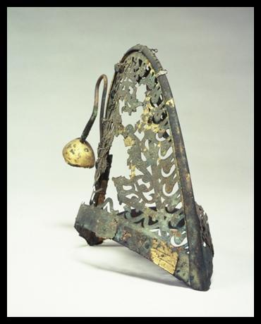 金銅製透彫冠帽